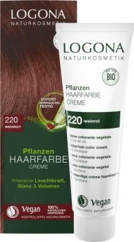 Logona Pflanzenhaarfarbe Creme Color Weinrot 150ml