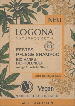 Logona festes Shampoo Hanf & Holunder 60g