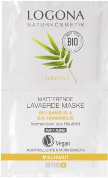 Logona mattierende Lavaerde Maske 15ml