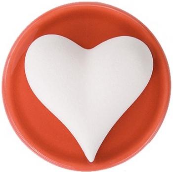 Duftstein Herz mit roten Keramikteller