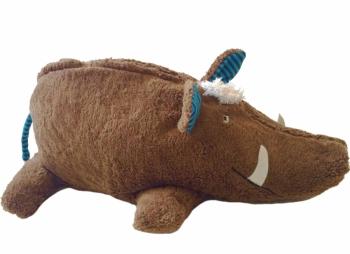 Bio Tierkissen Wildschwein mit Hirsespelzkissen-Inlett