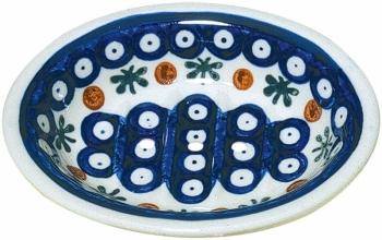 Seifenschale blaues Muster