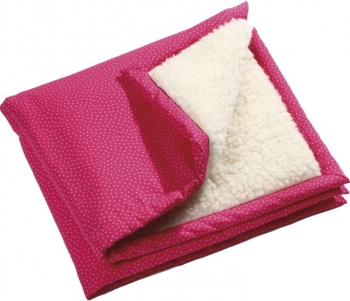 Öko Krabbeldecke rosa-pink / Laufgittereinlage