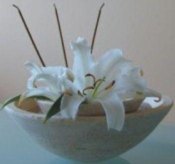 Räucherstäbchenhalter Schale Lotus