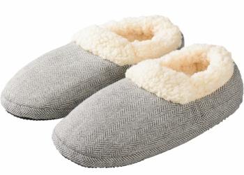 Mikrowellenschuhe Comfort gegen kalte Füße grau
