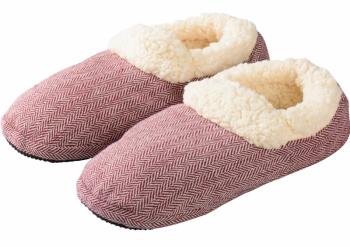 Mikrowellenschuhe Comfort gegen kalte Füße rot