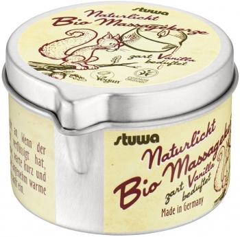 Bio Naturlicht Massagekerze Vanille vegan