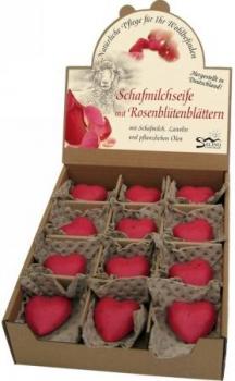 Rosenseife mit Rosenblütenblätter 65g