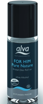 alva Kristall Deo Roll on for him pure nature 50ml